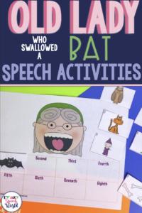 Old Lady Bat Speech Activities