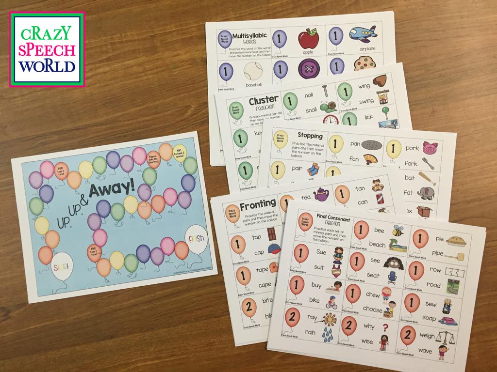 Workbooks speech therapy workbooks : Up, Up, & Away Phonology!