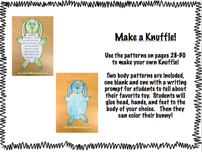 Knuffle Bunny Activities
