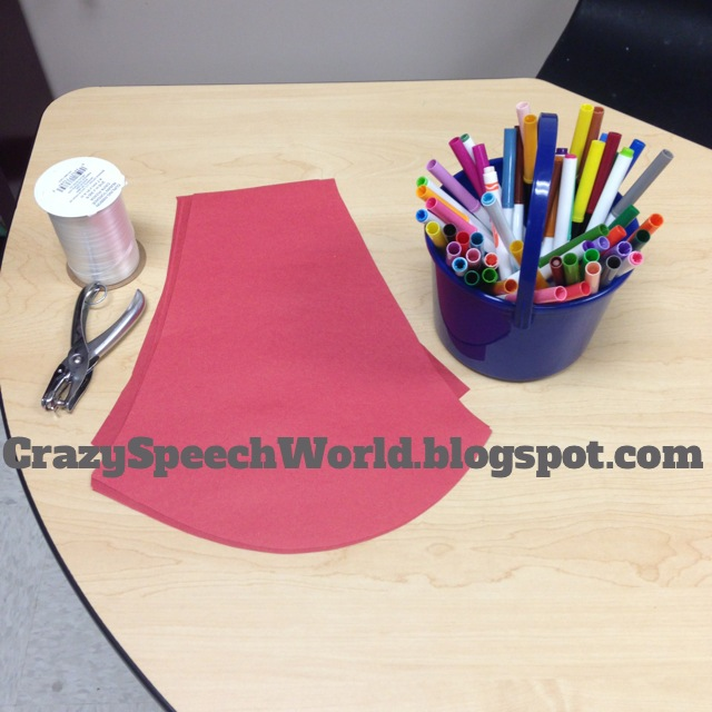 superhero cape craft for speech therapy