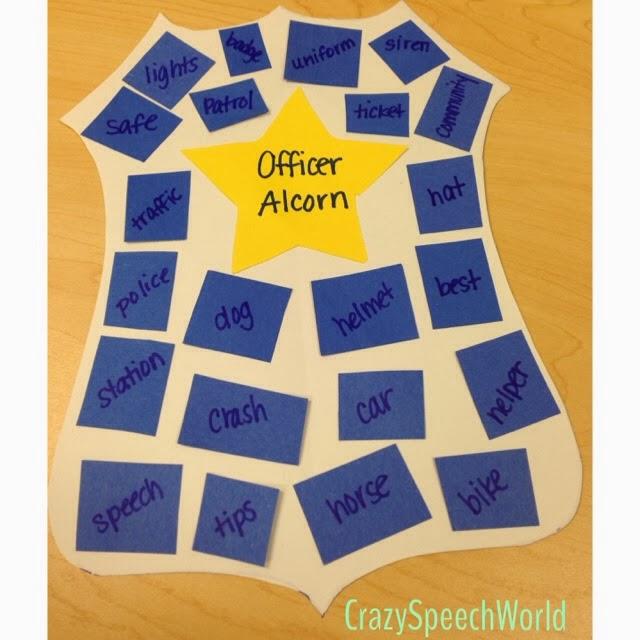 police badge craftivity