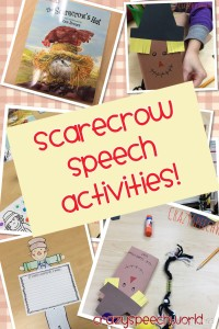 Scarecrow Speech Activities