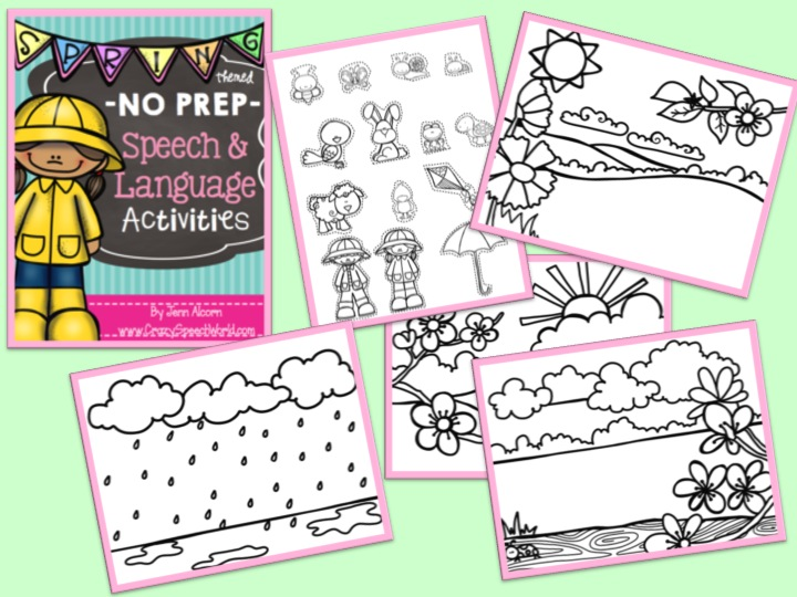 Spring NO PREP Speech Therapy Activities