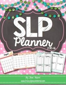 Crazy Speech World: SLP Planner