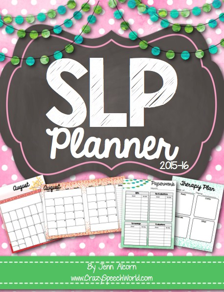 Crazy Speech World:  SLP Planner