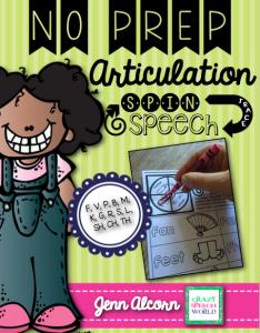 Crazy Speech World: No Prep Articulation