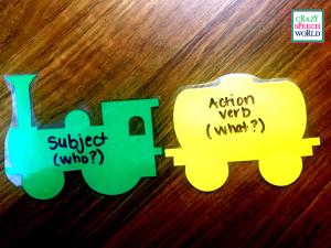 Crazy Speech World:  Teaching Verbs with Train Die Cuts!