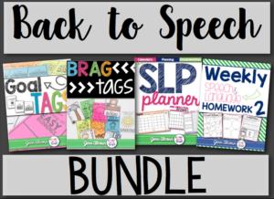 Crazy Speech World: Back to school bundle