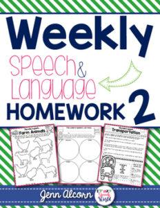 Weekly Speech & Language Homework
