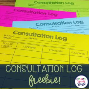 Consultation & SLPs