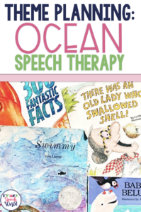 Ocean themed planning for speech therapy